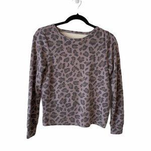 🌵Open Back Long Sleeve Leopard Top - XS